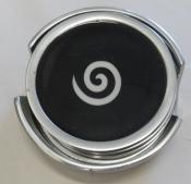 Five (5) Piece Black Spiral Metal Coaster