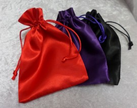 Handmade Satin Pouch with a Drawstring - All Designs