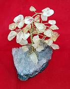 Citrine Tree on an Amethyst Cluster