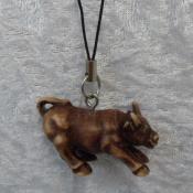 Dark Brown in Terracotta Finish Ox Hanging - Strength