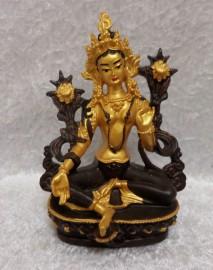"""Green Tara"" Statue - Goddess of Action"