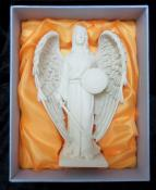 Antique Ivory Archangel Raphael Statue - 200mm